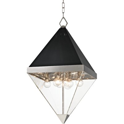 Rosato 8-Light Foyer Pendant Finish: Polished nickel/Black textured