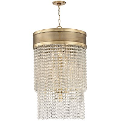 Rawson 12-Light Crystal Pendant Finish: Aged Brass