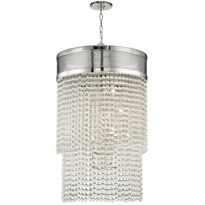 Rawson 12-Light Crystal Pendant Finish: Polished Nickel