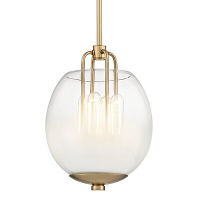 Evony 4-Light Globe Pendant Finish: Aged Brass