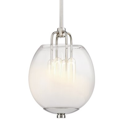 Evony 4-Light Globe Pendant Finish: Polished Nickel