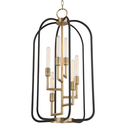 Dimitri 6-Light Foyer Pendant Finish: Aged Brass
