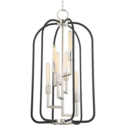 Dimitri 6-Light Foyer Pendant Finish: Polished Nickel
