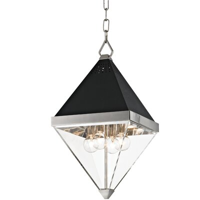 Rosato 4-Light Geometric Pendant Finish: Polished nickel/Black textured