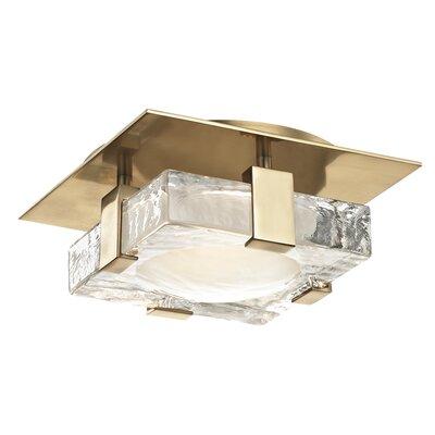 Rayl 1-Light LED Flush Mount Finish: Aged Brass