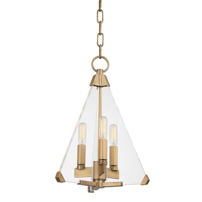 Diondre 3-Light Foyer Pendant Finish: Aged Brass