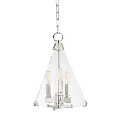 Diondre 3-Light Foyer Pendant Finish: Polished Nickel