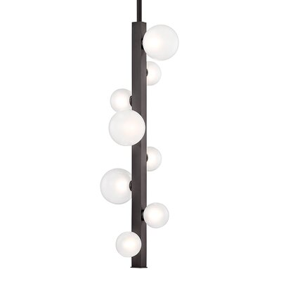 Diannah 8-Light LED Cluster Pendant Finish: Old Bronze