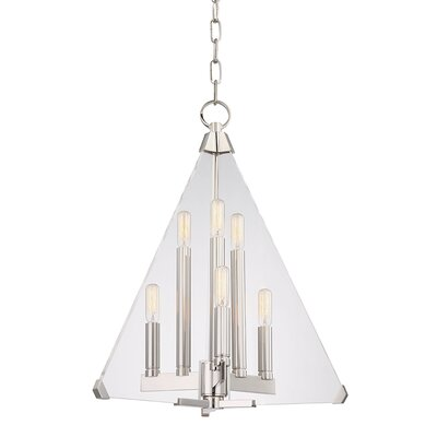 Diondre 6-Light Foyer Pendant Finish: Polished Nickel