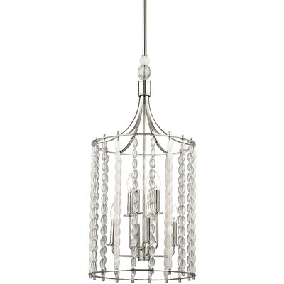 Reardon 8-Light Crystal Pendant Finish: Polished Nickel