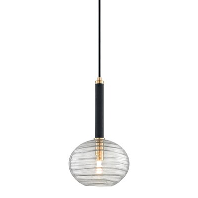 Rawley 1-Light LED Mini Pendant Finish: Aged Brass