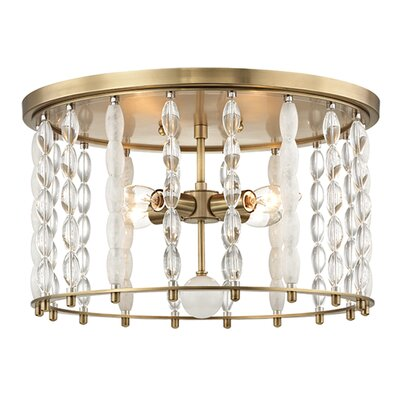 Reardon 4-Light Flush Mount Finish: Aged Brass