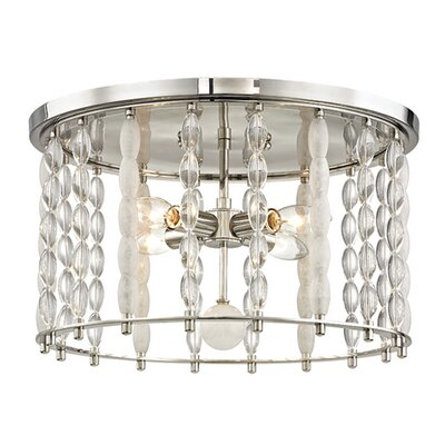 Reardon 4-Light Flush Mount Finish: Polished Nickel