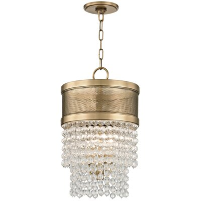 Rawson 4-Light Crystal Pendant Finish: Aged Brass