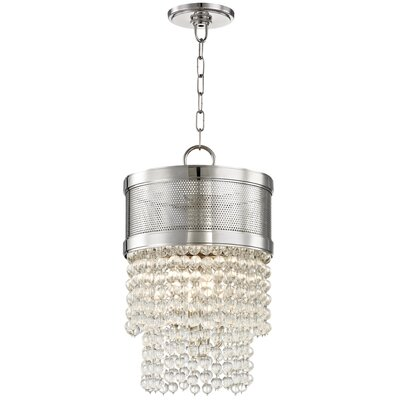 Rawson 4-Light Crystal Pendant Finish: Polished Nickel
