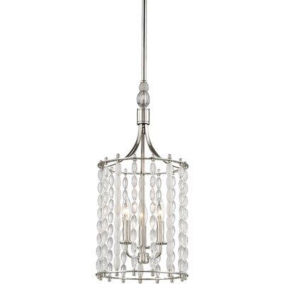 Reardon 3-Light Crystal Pendant Finish: Polished Nickel