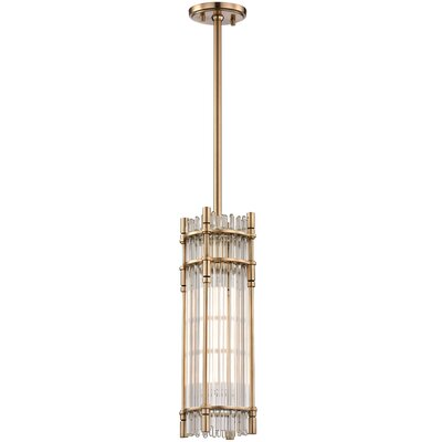 Dillen 1-Light Mini Pendant Finish: Aged Brass