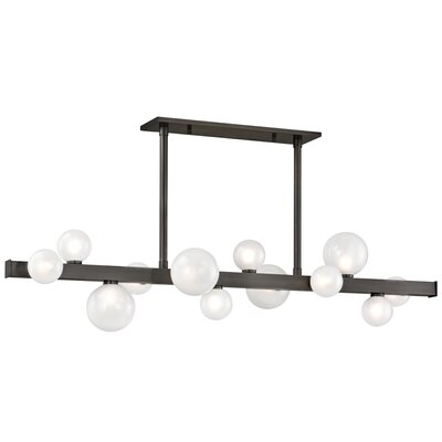 Diannah 12-Light LED Kitchen Island Pendant Finish: Old Bronze