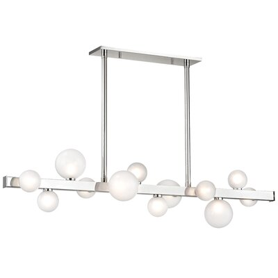 Diannah 12-Light LED Kitchen Island Pendant Finish: Polished Nickel