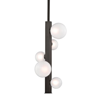 Diannah 5-Light LED Cluster Pendant Finish: Old Bronze