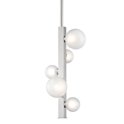 Diannah 5-Light LED Cluster Pendant Finish: Polished Nickel
