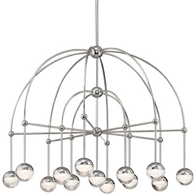 Raze 13-Light LED Shaded Chandelier Finish: Polished Nickel