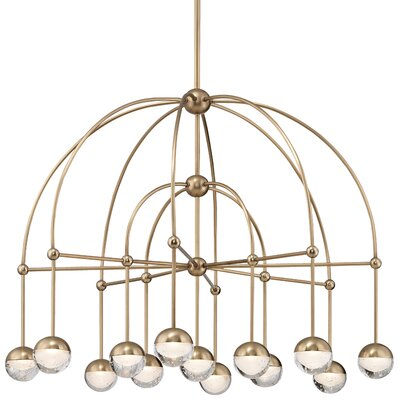 Raze 13-Light LED Shaded Chandelier Finish: Aged Brass