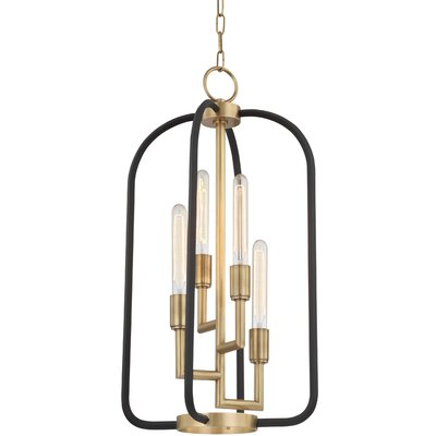 Dimitri 4-Light Foyer Pendant Finish: Aged Brass