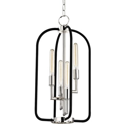 Dimitri 4-Light Foyer Pendant Finish: Polished Nickel
