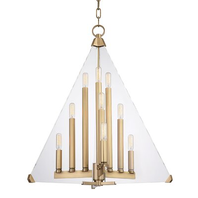 Diondre 9-Light Foyer Pendant Finish: Aged Brass