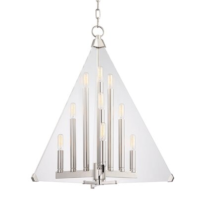 Diondre 9-Light Foyer Pendant Finish: Polished Nickel