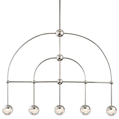 Raze 5-Light LED Kitchen Island Pendant Finish: Polished Nickel