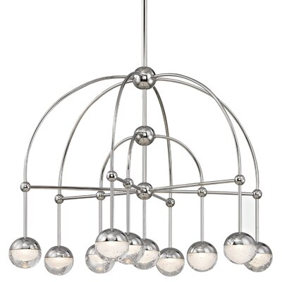 Raze 10-Light LED Shaded Chandelier Finish: Polished Nickel