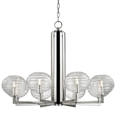 Rawley 8-Light LED Shaded Chandelier Finish: Polished Nickel