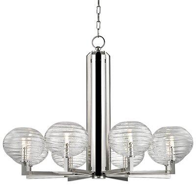 Rawley 8-Light LED Shaded Chandelier Finish: Polished Nickel