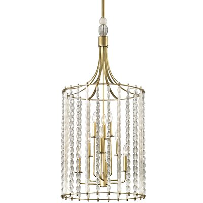 Reardon 9-Light Crystal Pendant Finish: Aged Brass