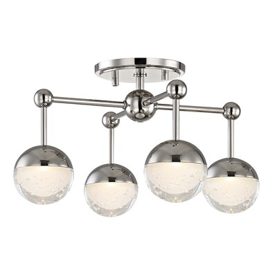 Raze 4-Light LED Semi Flush Mount Finish: Polished Nickel