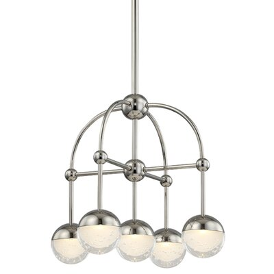 Raze 5-Light LED Shaded Chandelier Finish: Polished Nickel