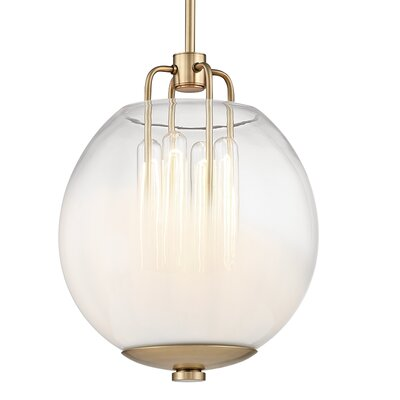 Evony 4-Light Glass Globe Pendant Finish: Aged Brass