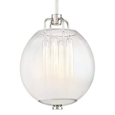 Evony 4-Light Glass Globe Pendant Finish: Polished Nickel
