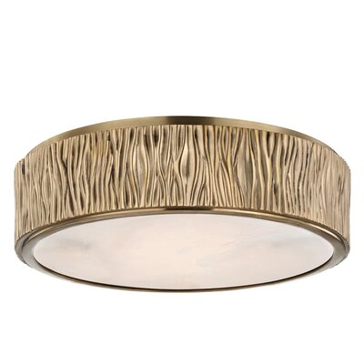 Repass 1-Light LED Flush Mount Finish: Aged Brass