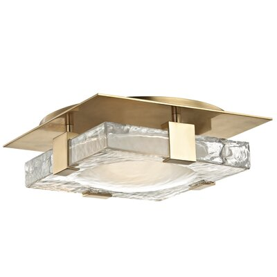 Rayl 1-Light LED Flush Mount Finish: Aged Brass