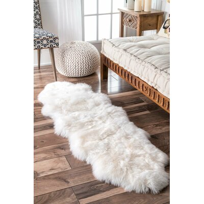 Septon Sheepskin Natural Area Rug Rug Size: Runner 110 x 57