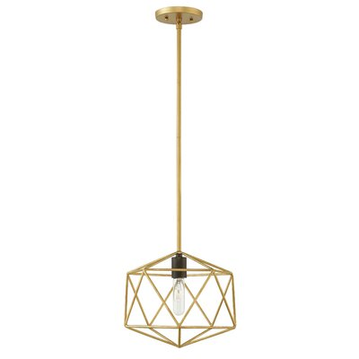 Rexdale 1-Light Mini Pendant Finish: Deluxe Gold