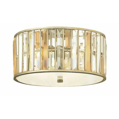 Mereworth 3-Light Flush Mount Finish: Vintage Bronze