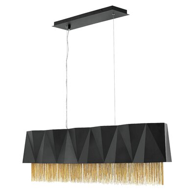 Reyes 5-Light Kitchen Island Pendant Finish: Satin Black