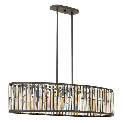 Mereworth 6-Light Crystal Chandelier Finish: Vintage Bronze