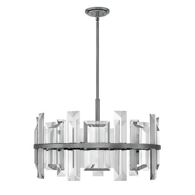 Reynosa 9-Light Drum pendant Finish: Gunmetal