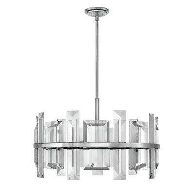 Reynosa 9-Light Drum pendant Finish: Polished Nickel