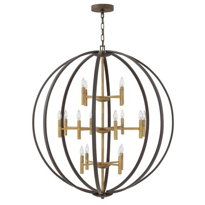 Kieran 16 Light Candle-Style Chandelier Finish: Spanish Bronze
